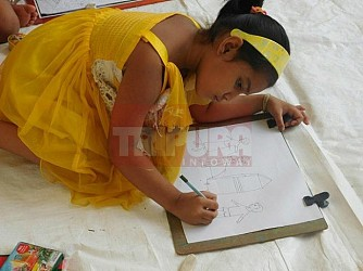 Sit and Draw competition held at Agartala. TIWN Pic June 25