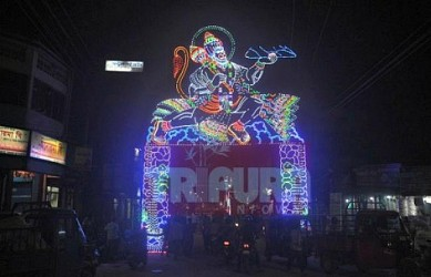 Agartala City glittering ahead of Durga Puja. TIWN Pic Sep 23