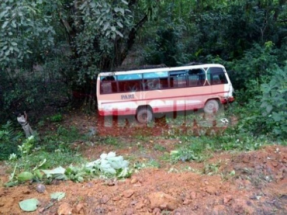 Bus accident left 13 injured at Bagma