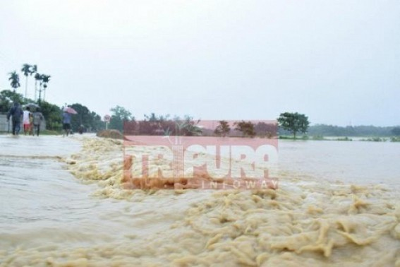 Flood threat rising in Tripura