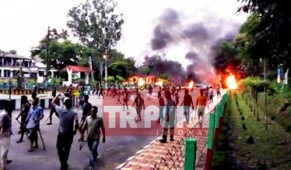 CPI-M party office burnt at Khumlwng : CPI-M accuses IPFT
