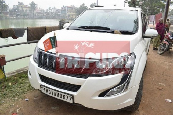 BJP's vehicle attacked